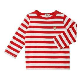 Tシャツ(ボーダー×ワンポイント / 長袖)/ミキハウス ホットビスケッツ