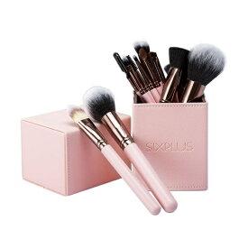 【公式】SIX PLUS ロマンチックなピンク色メイクブラシ15本セット/シックスプラス(SIXPLUS)