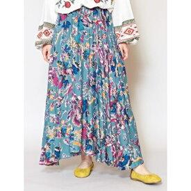 【チャイハネ】ニュアンスカラーフラワーロングスカート/チャイハネ(CAYHANE)