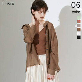 バックスリットシアーシャツ/ティティベイト(titivate)
