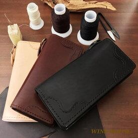 【ウォレット/財布】オールハンドレザーロング(手縫い)/ウインズハウス