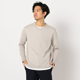 綿/麻 レイヤードニット インナーTシャツ付き/フレディ&グロスター メンズ(FREDY&GLOSTER)