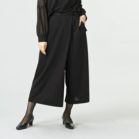 ストレッチワイドパンツ/レディース/ブラック/礼服/結婚式/喪服/ソリテール(SORITEAL)