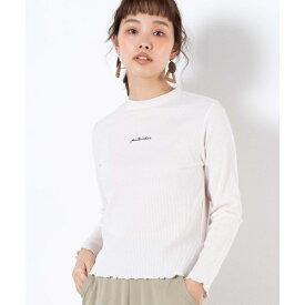 ロゴ刺繍リブTシャツ/ウィゴー(レディース)(WEGO)