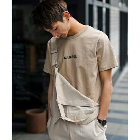 【KANGOL×A.S.Mコラボ】USAコットン / ロゴ刺繍 Tシャツ(半袖)/A・S・M(A.S.M)