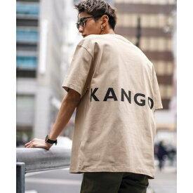 【KANGOLコラボ】 USAコットン/バックプリント Tシャツ(半袖)/A・S・M(A.S.M)