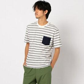 プレーティングボーダーTシャツ/フレディ&グロスター メンズ(FREDY&GLOSTER)