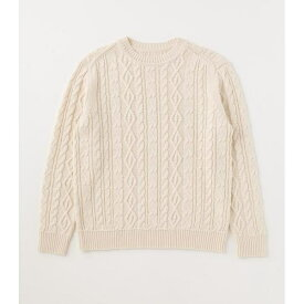 CABLE PATTERN C/N KNIT/アズールバイマウジー