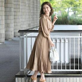 抜け衿プリーツシャツワンピース/クイーンズコート(QUEENS COURT)