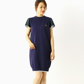 【A20】KNITTED DRESS/フレッドペリー(レディス)(FRED PERRY)