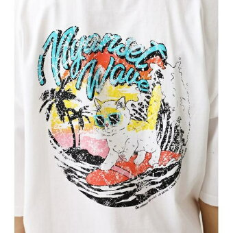 NYANSETWAVETシャツ/ロデオクラウンズワイドボウル(レディス)(RODEOCROWNSWIDEBOWL)