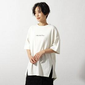[洗える]刺繍ロゴ オーバーサイズTシャツ/オゾック(OZOC)