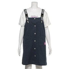 裏毛 ロゴストラップジャンパースカート×Tシャツセット/ブルークロスガールズ(BLUE CROSS girls)