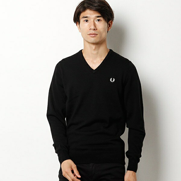 【17AW】「雑誌men's FUDGE 11月号掲載」CLASSIC V NECK SWEATER/フレッドペリー(メンズ)(FRED PERRY)