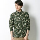 FLORAL CAMO LINEN 3/4 SLV SHIRT/トミーヒルフィガー(メンズ)(TOMMY)