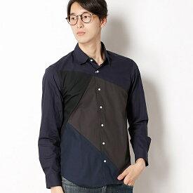 パッチワークシャツ/モルガンオム(MORGAN HOMME)