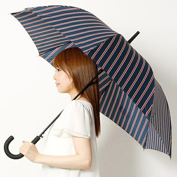 【男女兼用】大判長傘(ストライプ)雨傘/レディース/メンズ/w.p.c(WPC)