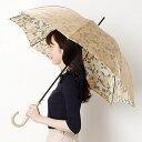 【7色展開】レディース長傘(ワンタッチタイプ雨傘・耐風)/ミラ・ショーン(雑貨)(mila schon)