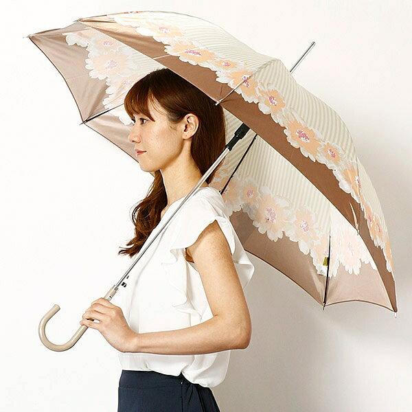 【雨傘(ジャンプ式)】長傘(フラワープリント/耐風骨使用)/レディース/ピンキー&ダイアン(雑貨)(Pinky&Dianne)