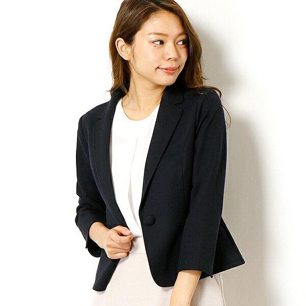 【洗える】【XXS〜7L】ジャージー素材サマーテーラードジャケット/アールユー(ru)
