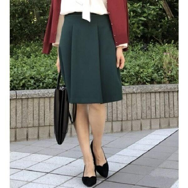 【秋の新作】【XXS〜7L】ラクチンきれいタックフレアスカート/アールユー(ru)