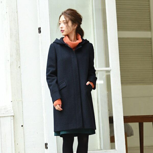 【秋冬新作】【XXS〜8L】フード取り外し2WAYコート/アールユー(ru)