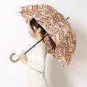 雨傘【手開きタイプ/長傘】ポンジープリント フルーツサンド(レディース/婦人)/gochisou(ごちそう)