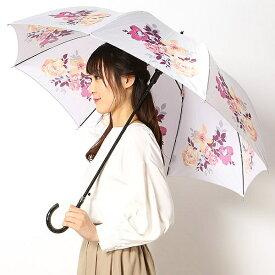 雨傘(長傘/ジャンプ傘)【グラス骨/耐風】花柄 (レディース)/ミラ・ショーン(雑貨)(mila schon)