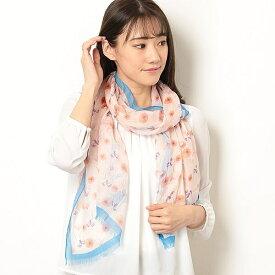 【手洗いOK】コットンテンセルインクジェットボタニカルプリントストール(日本製)/フルラ(ネックウェア・帽子)(FURLA)