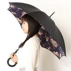雨傘(ジャンプ傘)【英国王室御用達/二重張り】Midnight Bloom/花柄(レディース)/フルトン(FULTON)