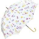 【長傘】スイートピー/軽くて丈夫で持ちやすい(レディース雨傘)/w.p.c(WPC)