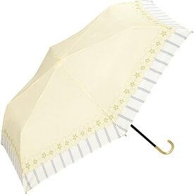 【雨傘】 リムストライプフラワーmini(折りたたみ傘/レディース)/w.p.c(WPC)