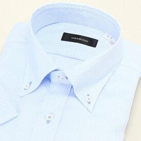 【アウトレット】(形態安定加工生地)[半袖ラクチンすっきりYシャツ]/ビサルノ