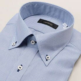 (形態安定加工生地)[ラクチンすっきりYシャツ]/ビサルノ