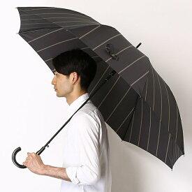 雨傘(ジャンプ傘)【耐風/8本骨/大きめ】ストライプ(メンズ/紳士)/ミズノ(MIZUNO)