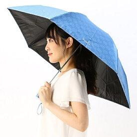 日傘(3段/折りたたみ/ミニ/晴雨兼用)【フワクール軽量/遮光&UV遮蔽率99%以上/遮熱】チェック/フルラ(ネックウェア・帽子)(FURLA)