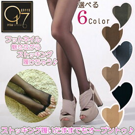 【お買い物マラソン】【閉店最終値下げ】つま先オープンストッキング (stockings-16)