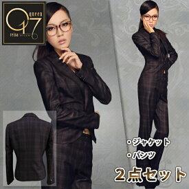 【3980円送料無料】ハイクオリティーチェック柄の上質高級スーツ (hq-suit-03)