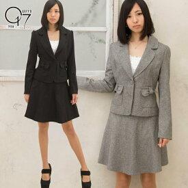 【3980円送料無料】ラメ入り♪リボンポッケが可愛いスカートスーツ (suit-34)