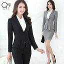 【閉店最終値下げ】シンプル美ライン♪スタイルアップセットスーツ (suit-84)