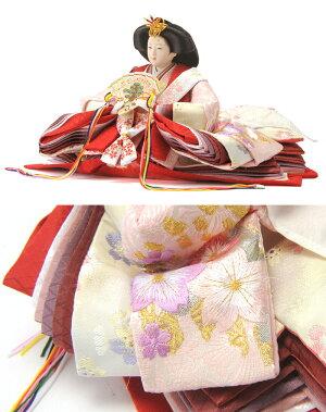 コンパクト収納飾り親王飾り芽衣パールピンク