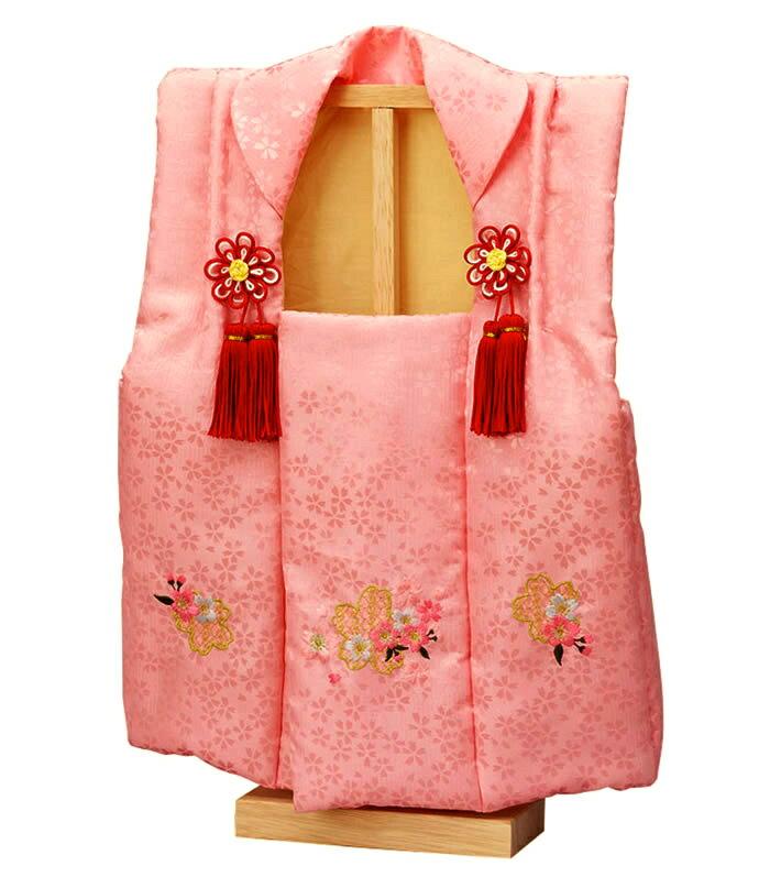 雛人形 ひな人形 雛 被布 スタンド付き 御被布 No.11 刺繍付 ピンク 1〜3歳用 【2019年度新作】 h313-fz-3640-09-002