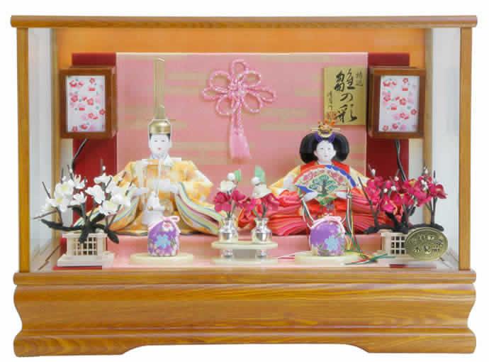 雛人形 ひな人形 小さい コンパクト 雛 ケース飾り 雛 親王飾り 雛 名匠・逸品飾り 雛人形 清月作 特選 雛の彩 芥子 お雛様 おひなさま 3s63227 おしゃれ かわいい 人形屋ホンポ