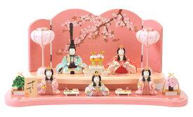 雛人形 特選 一秀 ひな人形 雛 木目込人形飾り 段飾り 五人飾り 木村一秀作 さくらさくら 15-3号 【2019年度新作】 h313-ic-111