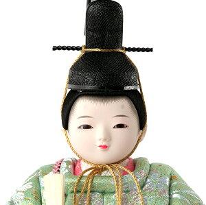 木目込人形飾りコンパクト収納飾り親王飾り柿沼東光作ひなもも入れ目