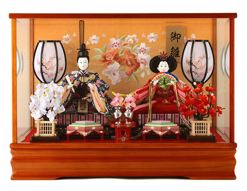 雛人形 ひな人形 小さい コンパクト 雛人形 雛 ケース飾り 雛 親王飾り ひな人形 小さい ケース ゆうか アンティーク 26032 お雛様 おひなさま h263-ts-yuuka-a おしゃれ かわいい 人形屋ホンポ