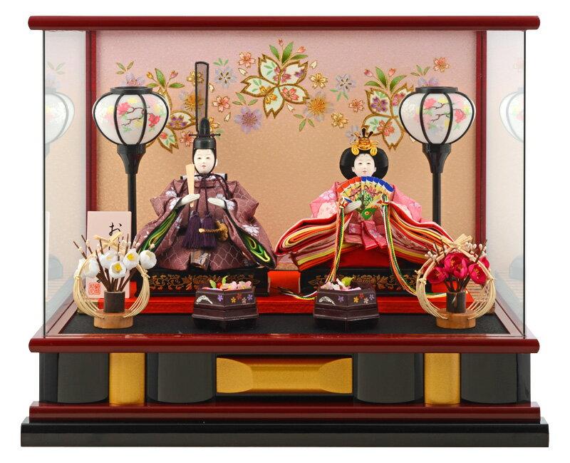 雛人形 ひな人形 小さい コンパクト 雛 ケース飾り 雛 親王飾り 広告の品 雛人形 おひなさま 小芥子二人 オルゴール付 お雛様 おひなさま h273-wt-14-55 おしゃれ かわいい 人形屋ホンポ