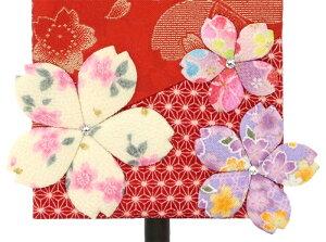室内飾り桜リボン特織(赤)ラインストーン付名前・生年月日入れ代金込み
