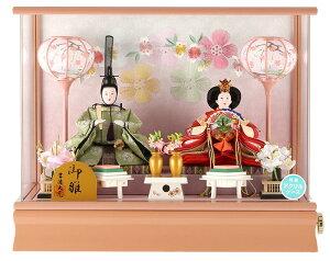 ケース飾り親王飾り御雛芥子親王アクリルケースオルゴール付【2019年度新作】