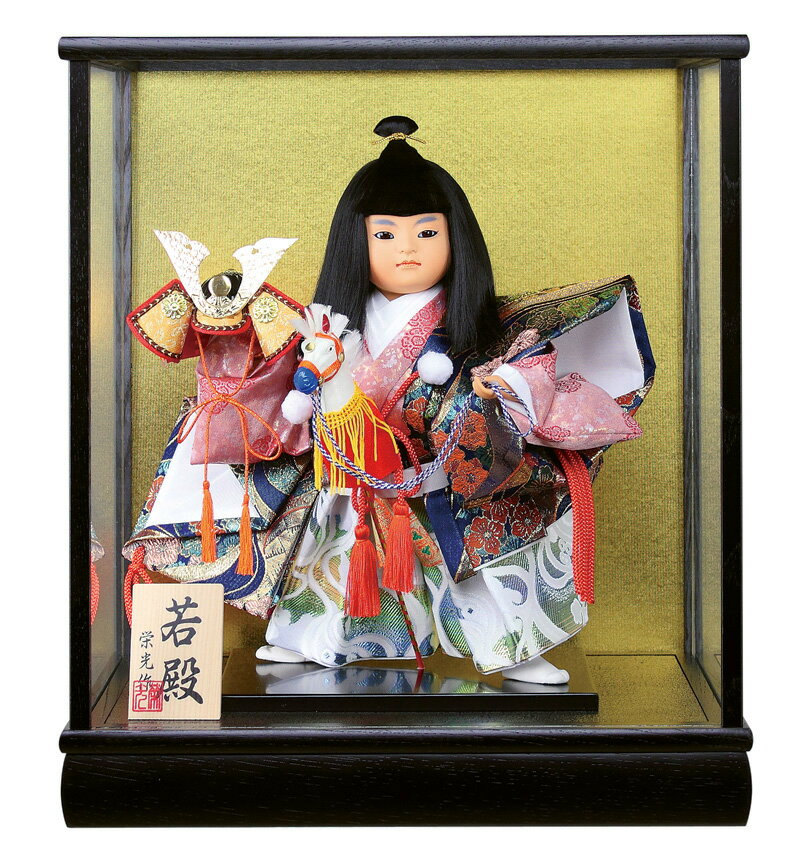 五月人形 武者人形 ケース飾り 栄光作 若殿 7号 【2019年度新作】 h315-fz-5740-62-007